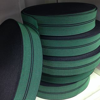 50m ROLL Elastic webbing 2 stripe, 50mm wide ($1.00pm)