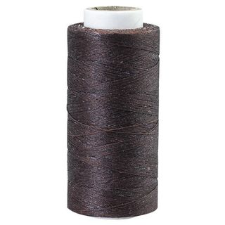 Waxed Polyester Thread, Fine, Brown, 544m