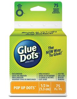 Glue Dots, Dimensional, 75PK, 13mm