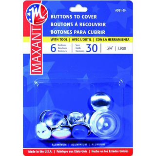 Self Cover Buttons #30 6PK