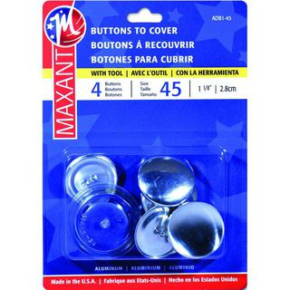 Self Cover Buttons, #45, 4pk