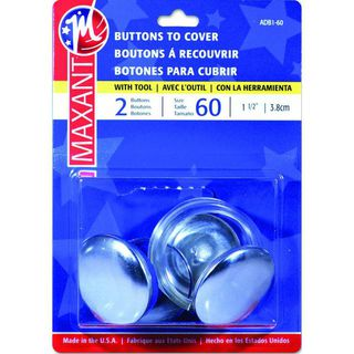 Self Cover Buttons, #60, 2pk