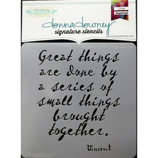Stencil Great Things 21 x 21cm