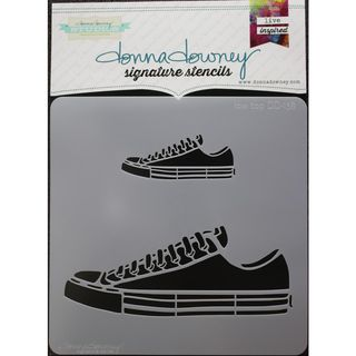 Stencil Low Top Sneakers 21 x 21cm