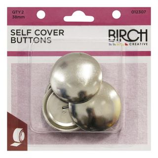 Self Cover Buttons 38mm, 2pk