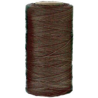Waxed Polyester Thread, Brown, 247m