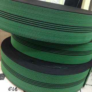 40M ROLL Elastic webbing 4 stripe, 70mm wide  ($1.67pm)