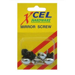 Mirror Screws and Domes, 4pk