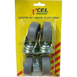 Castor wheels, 4pc