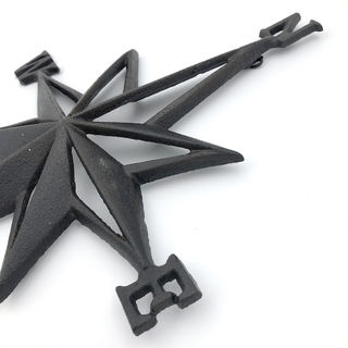 Cast Iron Compass Wall Art
