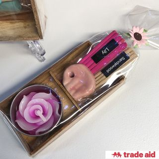 TRADE AID: Incense & Candle Gift Set
