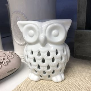 White Owl Ceramic Oil Burner