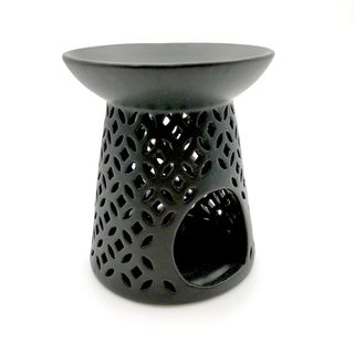 Black Lattice Ceramic Oil Burner