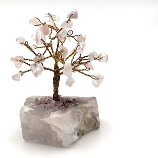 Rose Quartz Gem Tree, Pink