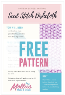 FREE Seed Stitch Dishcloth Pattern