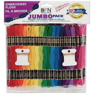 HUGE Embroidery thread pack, 105 skeins