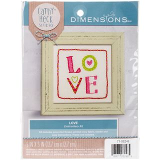 Cathy Heck Embroidery Kit, Love 20cm