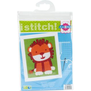 KIDS: Embroidery Kit, Cute Lion