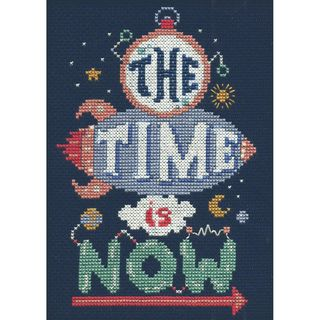 Counted Cross Stitch Kit, Time is Now 12 x 18cm