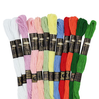 Embroidery Floss, 12PK, Assorted