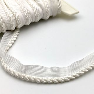 Flanged Cord 6mm White