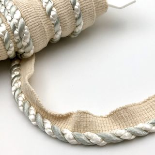 Flanged Cord 7mm Ivory and Sage
