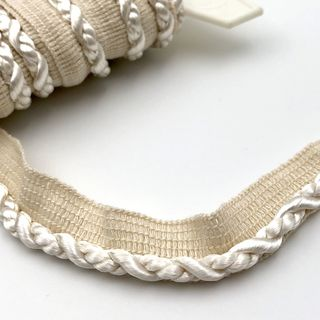 Flanged Cord 7mm Ivory