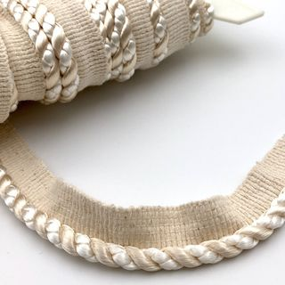 Flanged Cord 7mm Ivory and Maize