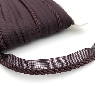 Flanged Cord 6mm Aubergine