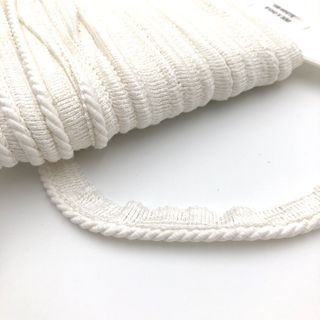 Flanged Cord 4mm White