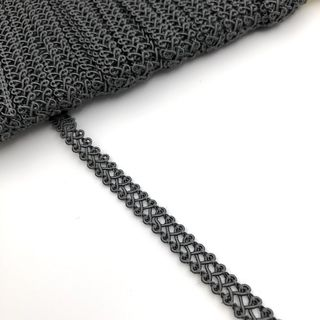 Gimp Braid Dark Grey 8mm