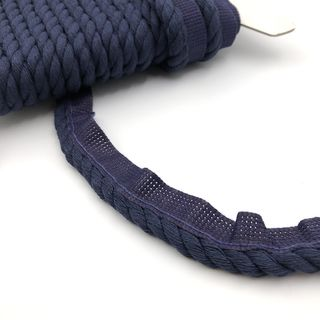 Flanged Cord 8mm Navy