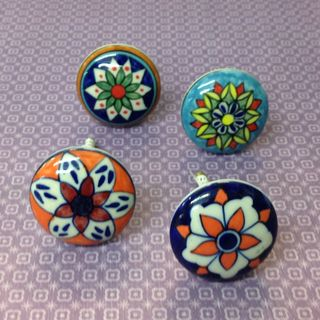 Knobs 4 x Patterned Knobs