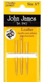 Needles, leather 3pk