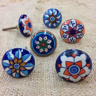 Knob 6 x Patterned Knobs