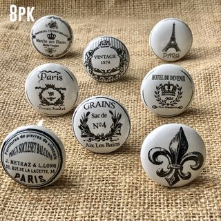 Knob Set French Inspired (8 Pack)