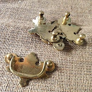 VINTAGE Brass drawer pulls x 4