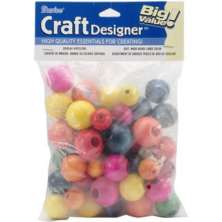 Wooden Beads, large assorted 45pk