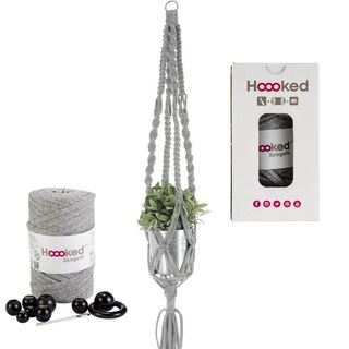 Hoooked Zpagetti Plant Hanger Kit, Grey