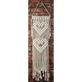 Macrame Wall Hanger Kit, Hearts