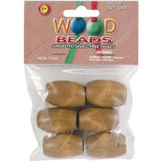 Wooden Beads, Maple, 6pk 32mm
