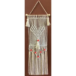 Macrame Wall Hanger Kit, Heart