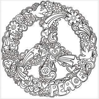 Zenbroidery Stamped Embroidery, Peace, 25cm
