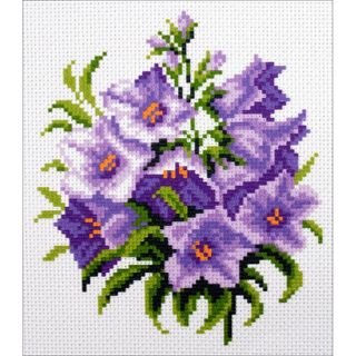 Stamped Cross Stitch Kit 20x22cm, Bluebells