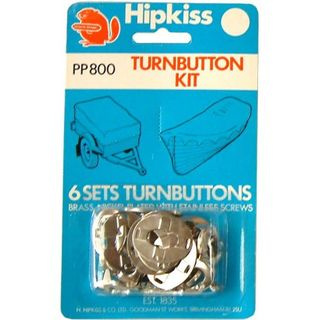 Hipkiss Turnbuttons, 6PK, PP800