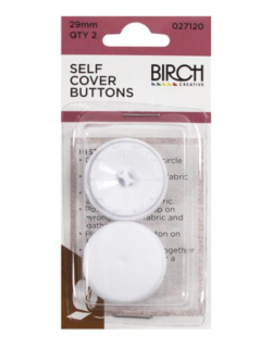 Self Cover Buttons, 29mm, 2pk