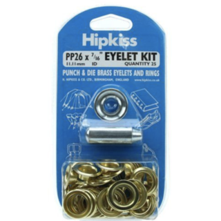 Hipkiss Eyelet Kit, 11.1mm, PP26