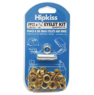 Hipkiss Eyelet Kit, 7.94mm, PP22