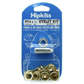 Hipkiss Eyelet Kit, 9.53mm, PP24