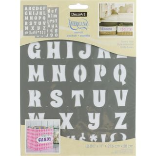 2PK Stencil Upper & Lower Case 28 x 21cm